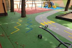 Játszótér festés, óvodai kreszpark