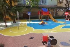 KRESZ pálya az óvodai játszótéren